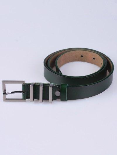 Alloy Pin Buckle Belt - BLACKISH GREEN  Mobile