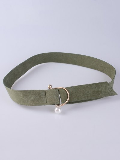 D Buckle Faux Suede Waist Belt - ARMY GREEN  Mobile