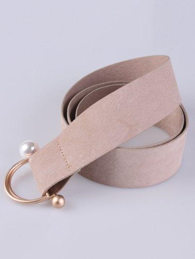 D Buckle Faux Suede Waist Belt - LIGHT CAMEL  Mobile