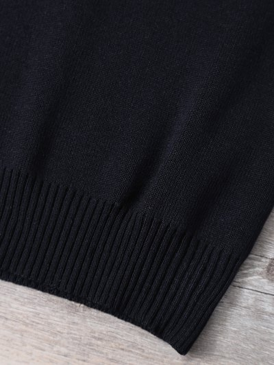 V Neck Sweater Tank Top - BLACK ONE SIZE Mobile