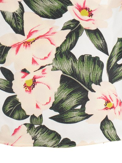 Floral A-Line Mini Skirt - GREEN L Mobile