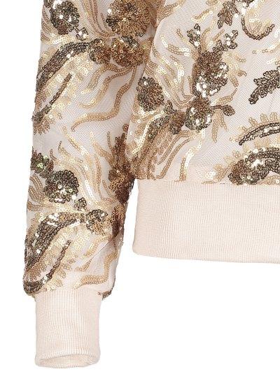 Punk Gilding Zipper Jacket - ROSE GOLD L Mobile