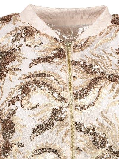 Punk Gilding Zipper Jacket - ROSE GOLD S Mobile