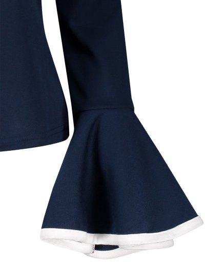 Flare Sleeve Blouse - CADETBLUE 2XL Mobile
