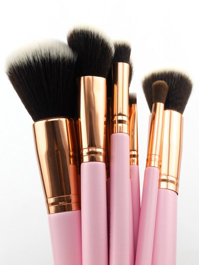 11 Pcs Makeup Brushes Kit - PINK  Mobile
