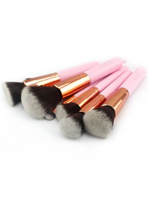 11 Pcs Makeup Brushes Kit - Pink