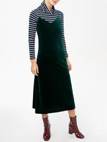 Side Slit Velvet Cami Dress