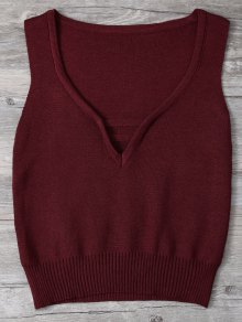 V Neck Sweater Tank Top