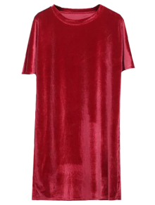 Velvet Mini Shift Layering Dress