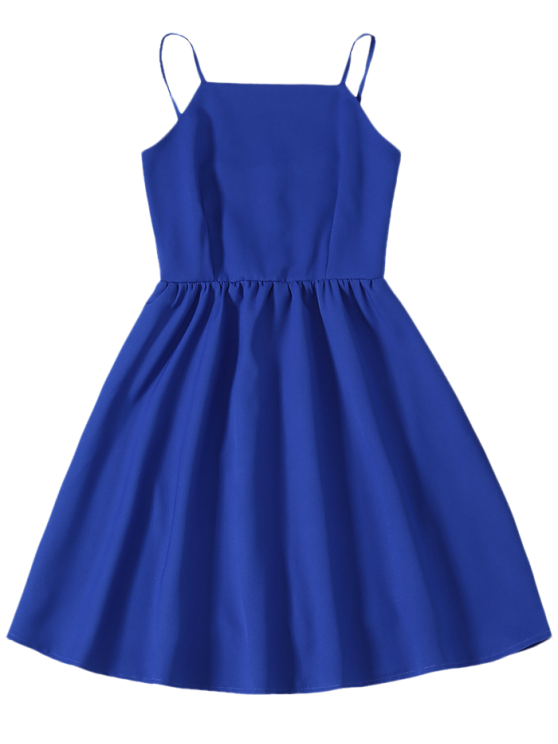 Cami Party Wear Dress For Women - SAPPHIRE BLUE L Mobile