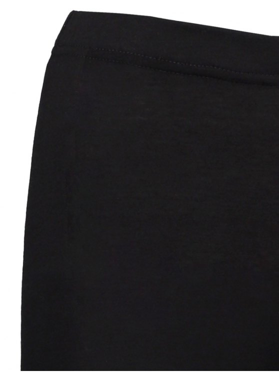 High Rise Ripped Leggings - BLACK 2XL Mobile