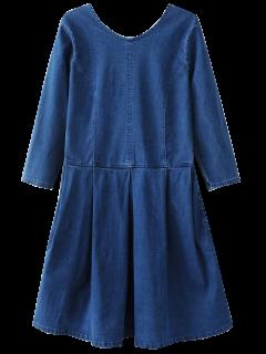 Robe Arrière En U Neck Jean - Bleu S