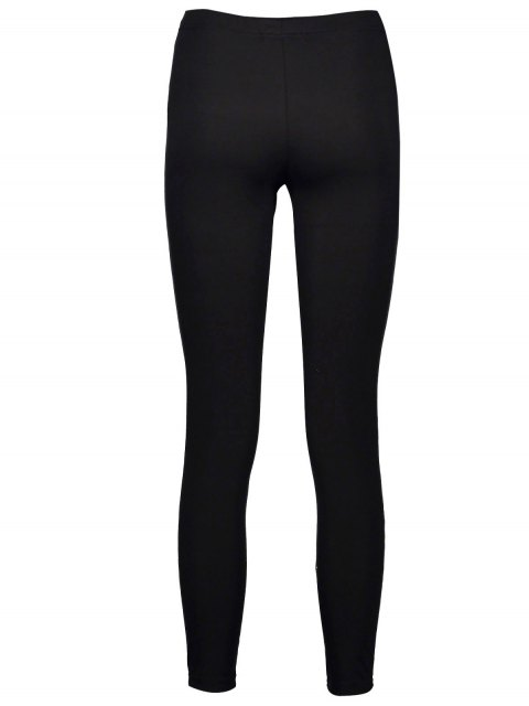 chic High Rise Ripped Leggings - BLACK XL Mobile