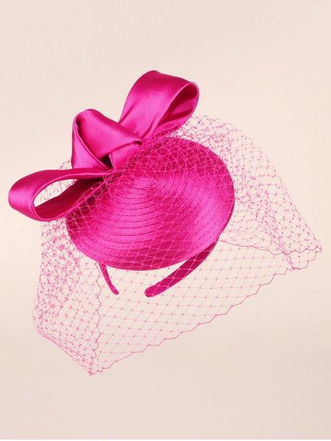 chic Bowknot Satin Pillbox Hat - TUTTI FRUTTI  Mobile