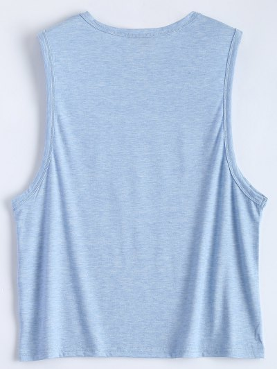 Triangle Pattern Tank Top - LIGHT BLUE XL Mobile