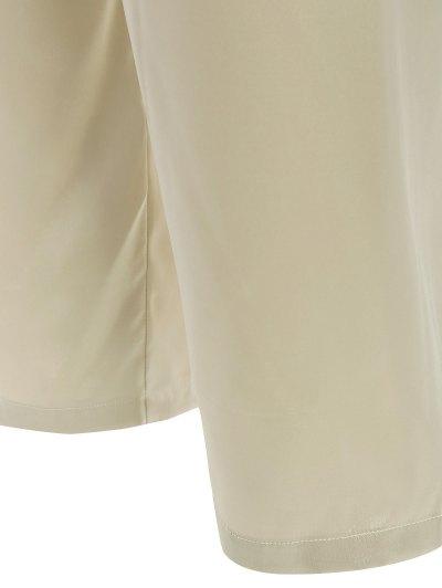 Fringed Ruffle Pullover Faux Silk Loungewear - BLUISH YELLOW XL Mobile