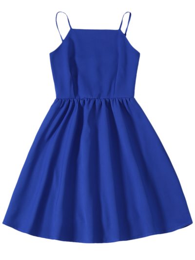Cami Party Wear Dress For Women - SAPPHIRE BLUE S Mobile