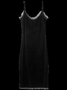 Eyelash Lace Velvet Cami Dress