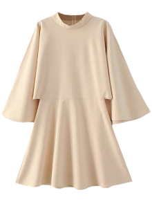 Mock Neck Butterfly Sleeve Mini Dress