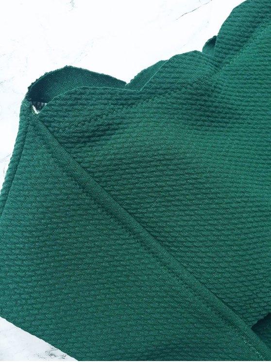 Wireless Scalloped One Shoulder Bikini - BLACKISH GREEN L Mobile