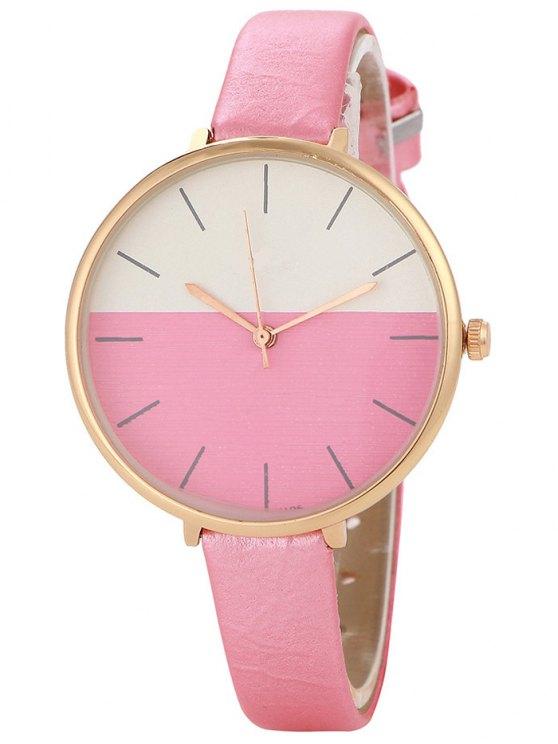Bloque de color reloj de cuarzo - Rosa