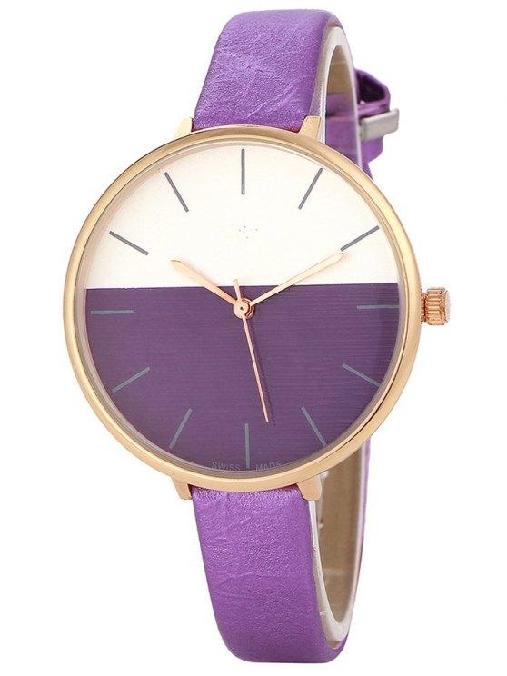 Bloque de color reloj de cuarzo - Púrpura