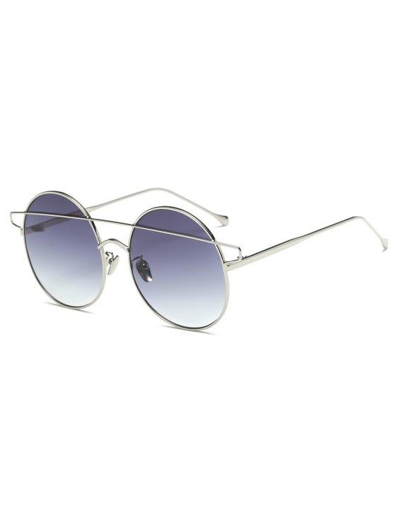 trendy Crossover Round Sunglasses - SILVER