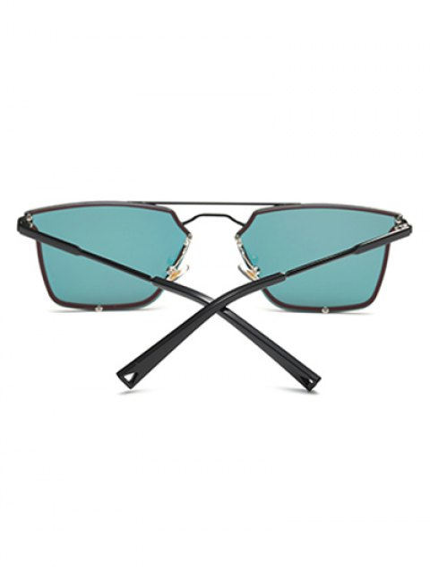 fancy Irregular Double Rims Mirrored Sunglasses - JACINTH  Mobile