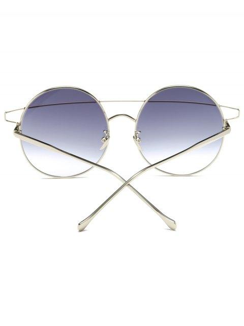 trendy Crossover Round Sunglasses - SILVER  Mobile
