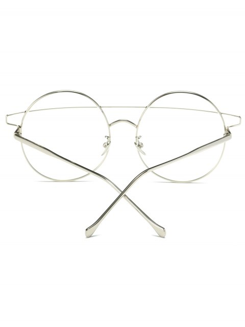 chic Transparent Lens Crossover Round Sunglasses - SILVER  Mobile