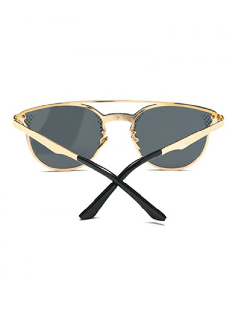 unique Rhombus Pattern Butterfly Sunglasses - BLACK  Mobile