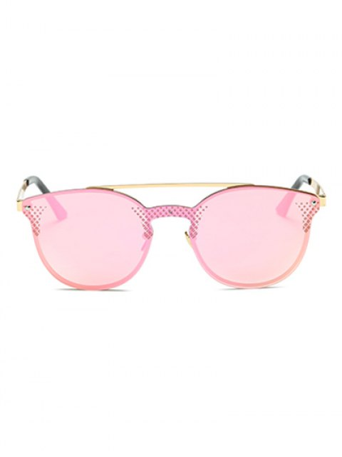 buy Rhombus Pattern Mirrored Butterfly Sunglasses - PINK  Mobile