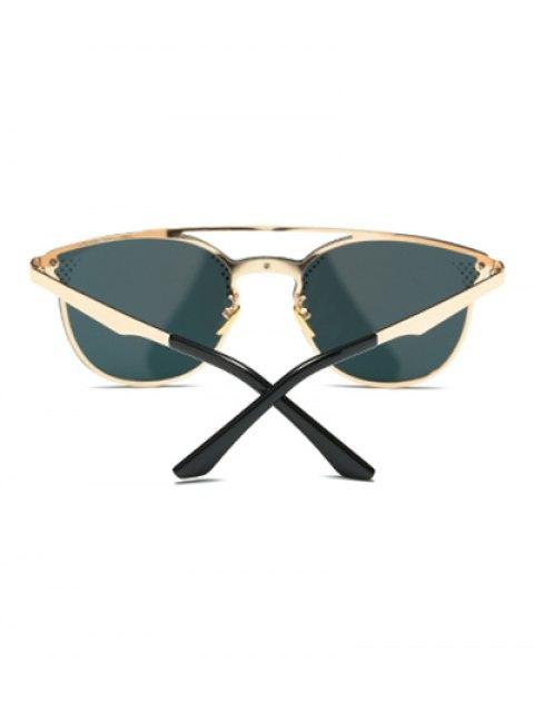 womens Rhombus Pattern Mirrored Butterfly Sunglasses - LIGHT PINK  Mobile