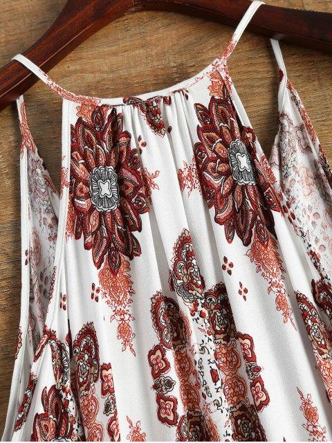 sale Long Sleeved Cold Shoulder Dress - WHITE L Mobile