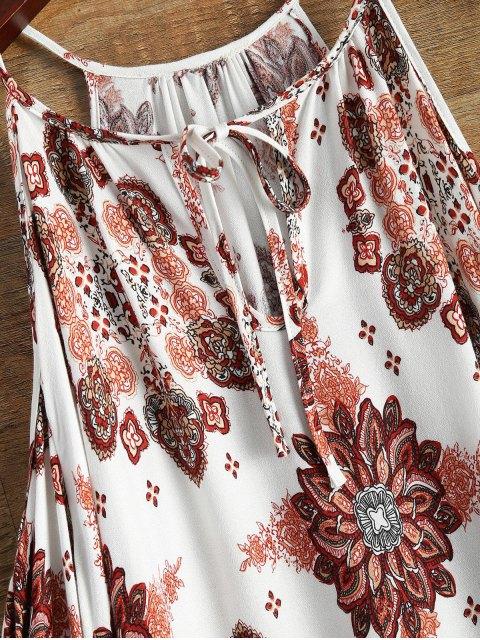affordable Long Sleeved Cold Shoulder Dress - WHITE M Mobile