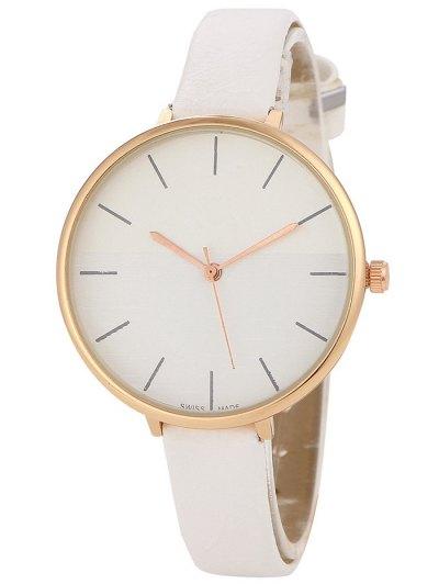Color Block Quartz Watch - WHITE  Mobile
