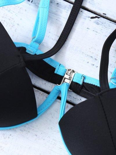 Strappy Molded Cups Bikini - BLACK XL Mobile