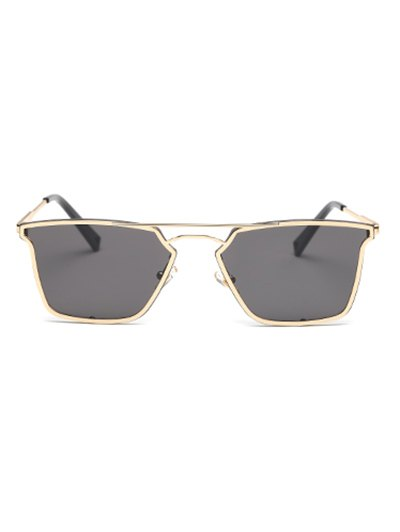 Irregular Double Rims Sunglasses - BLACK  Mobile