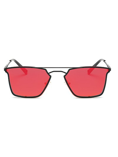 Irregular Double Rims Mirrored Sunglasses - JACINTH  Mobile
