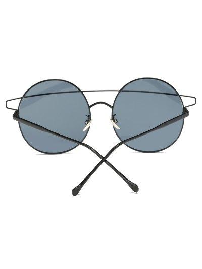 Crossover Round Sunglasses - BLACK  Mobile