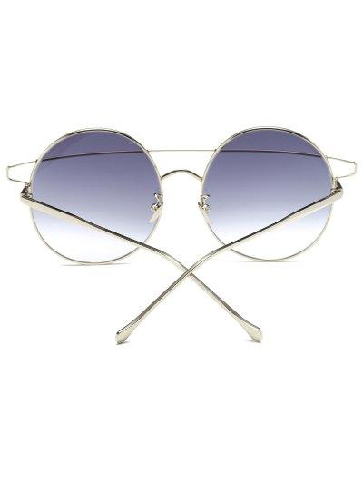 Crossover Round Sunglasses - SILVER  Mobile