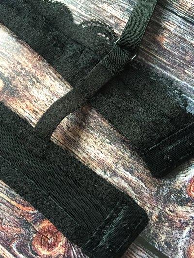 Crosscriss Lace Jacquard Bra - BLACK XL Mobile