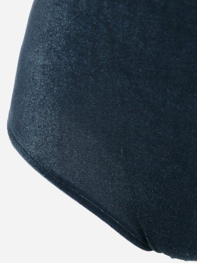 Cut Out Velvet Swimwear - BLACKISH GREEN M Mobile