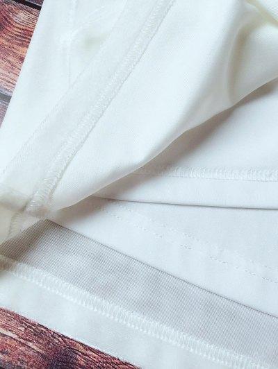 Lace Trim Velvet Camisole Top - WHITE S Mobile