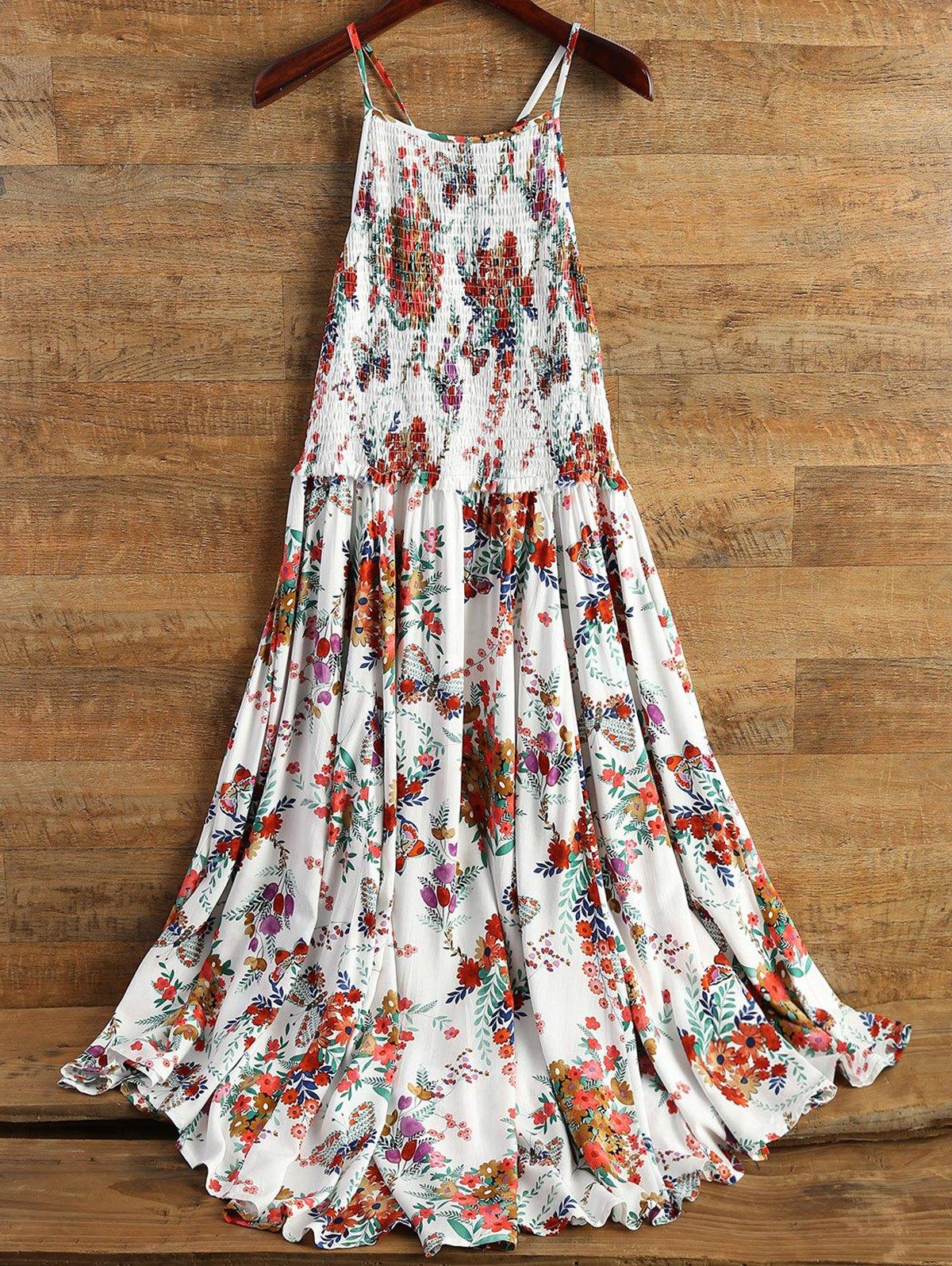 Smocked Cami Floral Dress