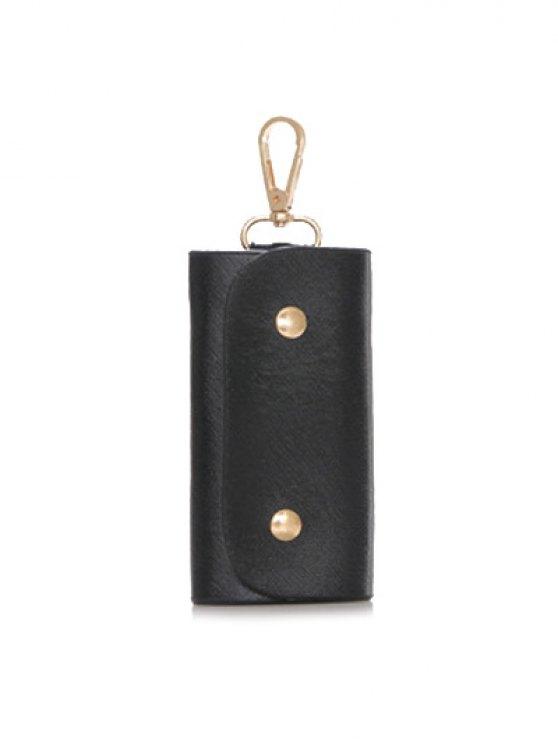 Metal Embellished Handbag Set - BLACK  Mobile