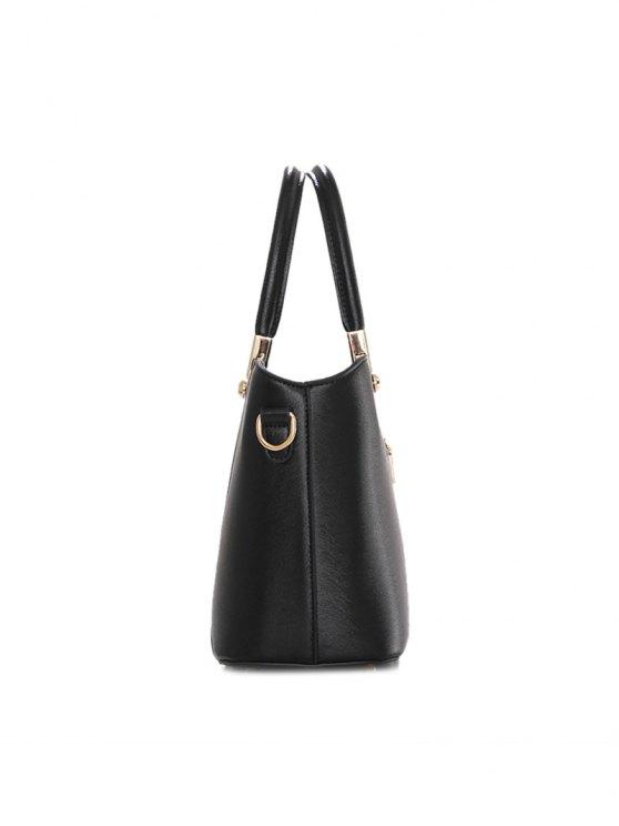 Metal Embellished Handbag Set - BLUE  Mobile