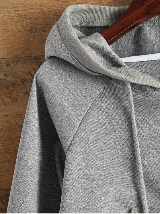 Hooded Cropped Jacket - GRAY XL Mobile