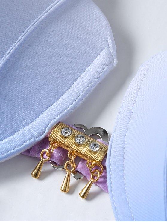 Ombre Color Shell Bikini - BLUE + PURPLE M Mobile