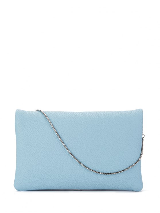 chic Snake Chain Crossbody Bag - BLUE